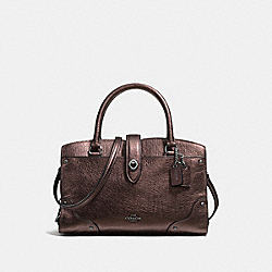 COACH MERCER SATCHEL 24 - BRONZE/DARK GUNMETAL - F37779
