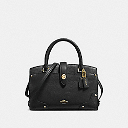 COACH MERCER SATCHEL 24 IN GRAIN LEATHER - LIGHT GOLD/BLACK - F37779