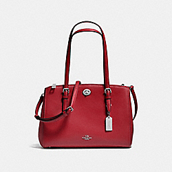 COACH TURNLOCK CARRYALL 29 - RED CURRANT/SILVER - F37782