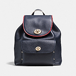 MINI TURNLOCK RUCKSACK - LIGHT GOLD/NAVY - COACH F37789