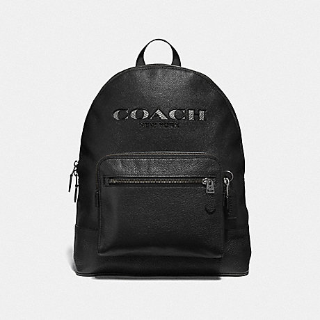 COACH WEST BACKPACK WITH COACH CUT OUT - BLACK MULTI/BLACK ANTIQUE NICKEL - F37802