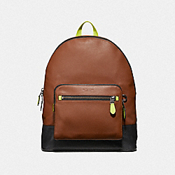 WEST BACKPACK - SADDLE MULTI/BLACK ANTIQUE NICKEL - COACH F37823