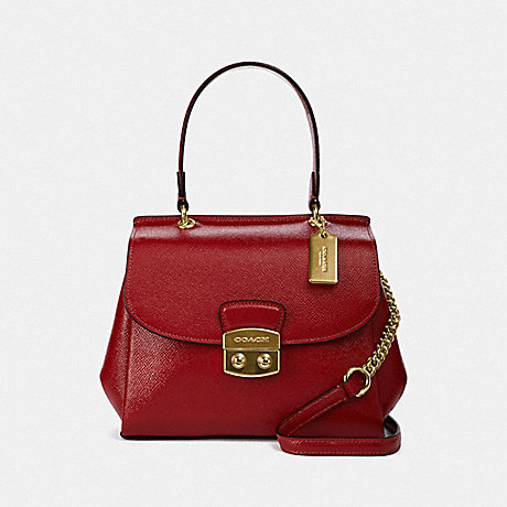 COACH AVARY CROSSBODY - RUBY/LIGHT GOLD - F37833
