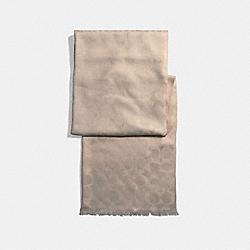 COACH SIGNATURE WRAP - OATMEAL - F37836