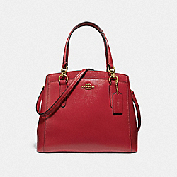 MINETTA CROSSBODY - RUBY/LIGHT GOLD - COACH F37837