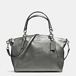 COACH SMALL KELSEY SATCHEL IN GRAIN LEATHER - SILVER/GUNMETAL - F37857