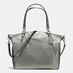 COACH KELSEY SATCHEL IN GRAIN LEATHER - SILVER/GUNMETAL - F37858