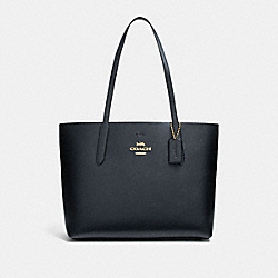 AVENUE TOTE - MIDNIGHT/METALLIC DARK TURQUOISE/LIGHT GOLD - COACH F37871