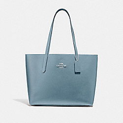 AVENUE TOTE - CORNFLOWER/METALLIC MIDNIGHT/SILVER - COACH F37871