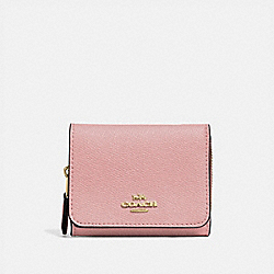 SMALL TRIFOLD WALLET - IM/PINK PETAL - COACH F37968