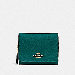 SMALL TRIFOLD WALLET - IM/VIRIDIAN - COACH F37968