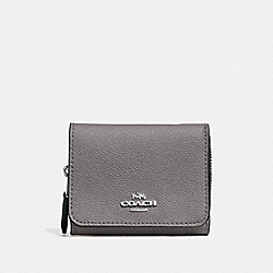 SMALL TRIFOLD WALLET - HEATHER GREY/SILVER - COACH F37968