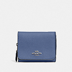 SMALL TRIFOLD WALLET - SV/BLUE LAVENDER - COACH F37968