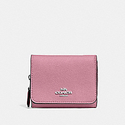 SMALL TRIFOLD WALLET - TULIP - COACH F37968