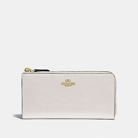 COACH L-ZIP WALLET - CHALK/IMITATION GOLD - F37985