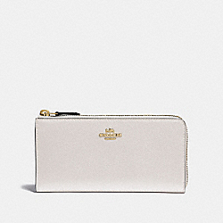 L-ZIP WALLET - CHALK/IMITATION GOLD - COACH F37985