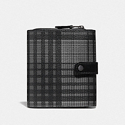 CORD ORGANIZER WITH TWILL PLAID PRINT - GREY MULTI/BLACK ANTIQUE NICKEL - COACH F37992