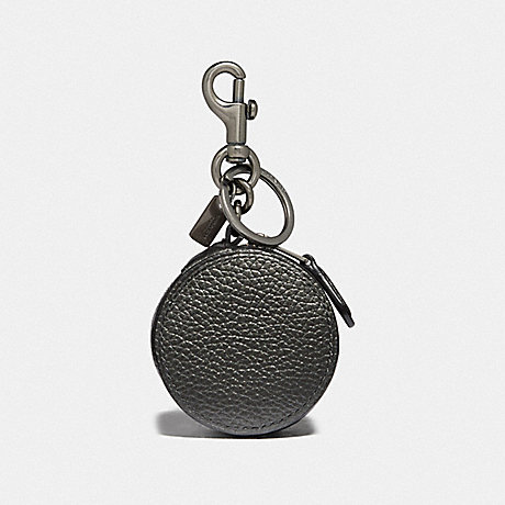 COACH MINI ZIP CASE - METALLIC GUNMETAL/BLACK ANTIQUE NICKEL - F37994