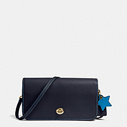TURNLOCK CROSSBODY IN GLOVETANNED LEATHER - f38015 - LIGHT GOLD/NAVY/AZURE