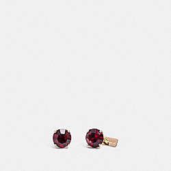 RUBY EARRINGS - RED/GOLD - COACH F38035
