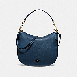 ELLE HOBO - METALLIC DENIM/IMITATION GOLD - COACH F38051