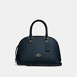 MINI SIERRA SATCHEL - METALLIC DENIM/LIGHT GOLD - COACH F38057