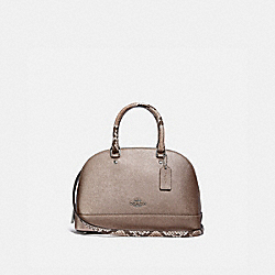 MINI SIERRA SATCHEL - PLATINUM/SILVER - COACH F38057