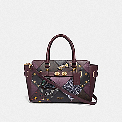 BLAKE CARRYALL 25 WITH LUCKY STAR PATCHWORK - RASPBERRY MULTI/LIGHT GOLD - COACH F38061