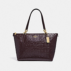 AVA TOTE IN SIGNATURE LEATHER - OXBLOOD 1/LIGHT GOLD - COACH F38090