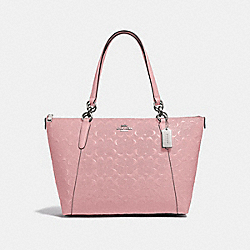 AVA TOTE IN SIGNATURE LEATHER - PETAL/SILVER - COACH F38090