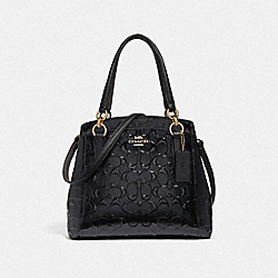 MINETTA CROSSBODY IN SIGNATURE LEATHER - BLACK/BLACK/LIGHT GOLD - COACH F38093