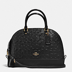 COACH SIERRA SATCHEL IN DEBOSSED PATENT LEATHER - IMITATION GOLD/BLACK - F38120