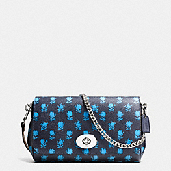 MINI RUBY CROSSBODY IN BADLANDS FLORAL PRINT COATED CANVAS - f38162 - SILVER/MIDNIGHT MULTI