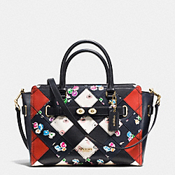 BLAKE CARRYALL IN PRINTED PATCHWORK LEATHER - f38210 - IMITATION GOLD/MULTICOLOR