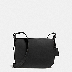 PATRICIA SADDLE BAG IN SMOOTH LEATHER - f38247 - ANTIQUE NICKEL/BLACK