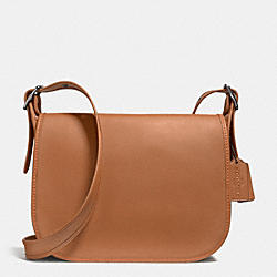 PATRICIA SADDLE BAG IN SMOOTH LEATHER - ANTIQUE NICKEL/SADDLE - COACH F38247