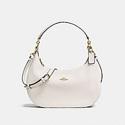 HARLEY EAST/WEST HOBO IN PEBBLE LEATHER - IMITATION GOLD/CHALK - COACH F38250