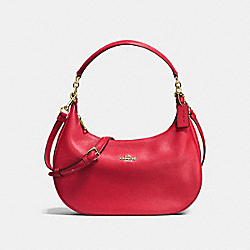 HARLEY EAST/WEST HOBO IN PEBBLE LEATHER - IMITATION GOLD/TRUE RED - COACH F38250