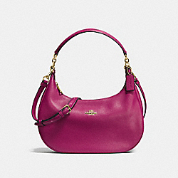 HARLEY EAST/WEST HOBO IN PEBBLE LEATHER - IMITATION GOLD/FUCHSIA - COACH F38250