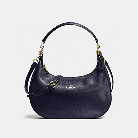 COACH HARLEY EAST/WEST HOBO IN PEBBLE LEATHER - IMITATION GOLD/MIDNIGHT - f38250