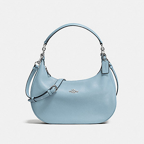 COACH HARLEY EAST/WEST HOBO IN PEBBLE LEATHER - SILVER/CORNFLOWER - f38250