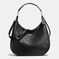 COACH HARLEY HOBO IN PEBBLE LEATHER - IMITATION GOLD/BLACK - F38259