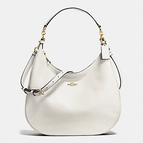 COACH HARLEY HOBO IN PEBBLE LEATHER - IMITATION GOLD/CHALK - f38259