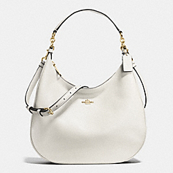 HARLEY HOBO IN PEBBLE LEATHER - IMITATION GOLD/CHALK - COACH F38259