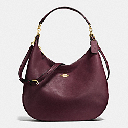 HARLEY HOBO IN PEBBLE LEATHER - IMITATION GOLD/OXBLOOD - COACH F38259