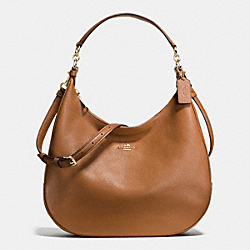 HARLEY HOBO IN PEBBLE LEATHER - f38259 - IMITATION GOLD/SADDLE