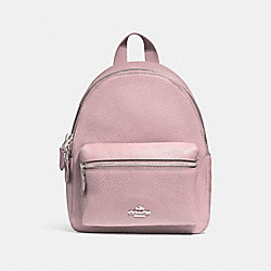 COACH MINI CHARLIE BACKPACK - BLUSH 2/SILVER - F38263
