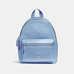 MINI CHARLIE BACKPACK - SILVER/POOL - COACH F38263