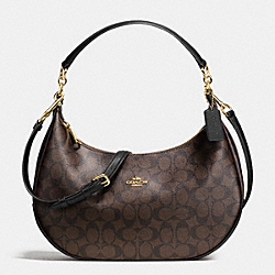 COACH HARLEY EAST/WEST HOBO IN SIGNATURE - IMITATION GOLD/BROWN/BLACK - F38267