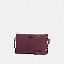 LYLA CROSSBODY IN PEBBLE LEATHER - f38273 - IMITATION GOLD/OXBLOOD